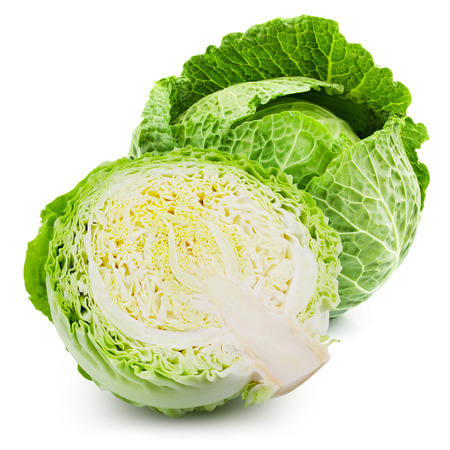 cabbage isolated on white background Фото со стока