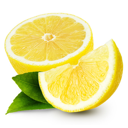 레몬은 흰색 배경에 고립