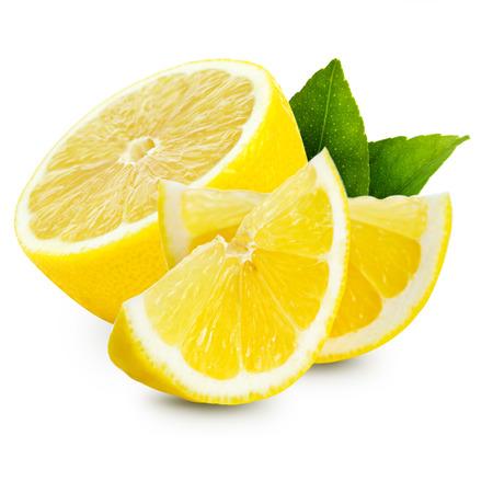 limón: aislados de lim�n Foto de archivo