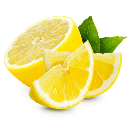 lemon slice: lemon isolated Stock Photo