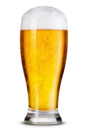 分離されたビールのグラス。 写真素材