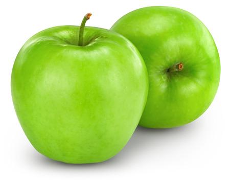 Grüner Apfel, isoliert  Standard-Bild