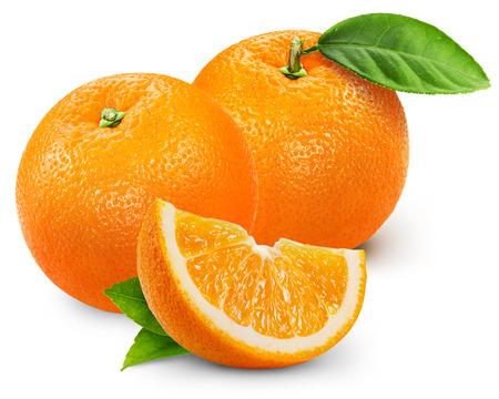 오렌지 과일 흰색 배경에 고립입니다.