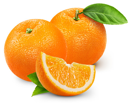 Orange fruit isolated on white background. 版權商用圖片 - 37250419