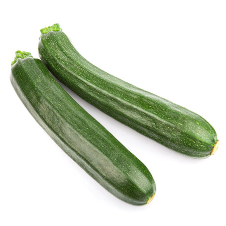 marrow squash: zucchini courgette Isolated on white