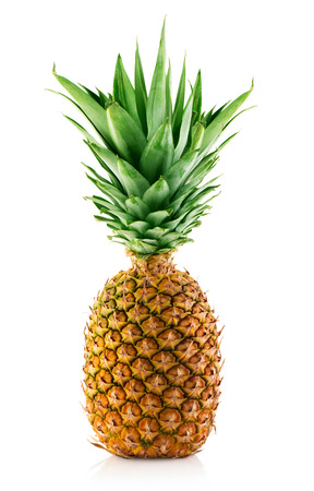 pineapple with slices isolated on white Imagens - 38168501