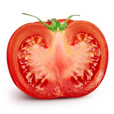 tomato slice: Fresh slice tomato on white background. Clipping Path