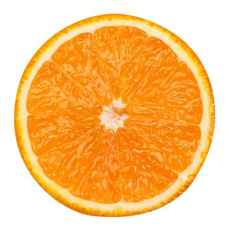 slice of orange fruit isolated clipping path Standard-Bild