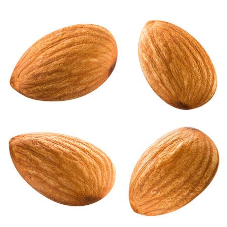 Mandeln Nüsse isoliert auf weißem Hintergrund Beschneidungspfad Standard-Bild - 38731068