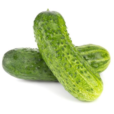 english cucumber: cucumbers isolated on white background
