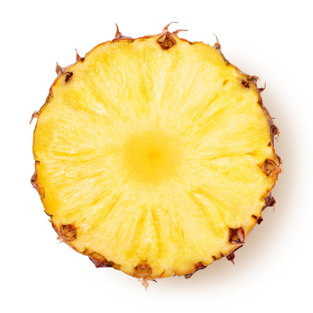 citricos: piña con las rebanadas aisladas camino de recortes