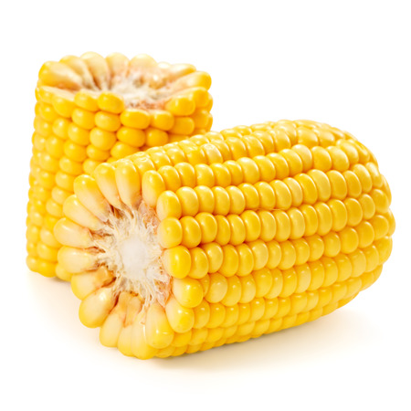 corn: Corn on the cob kernels isolated