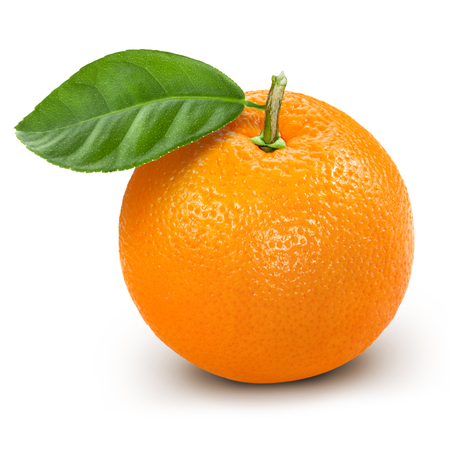 orange isolated Standard-Bild