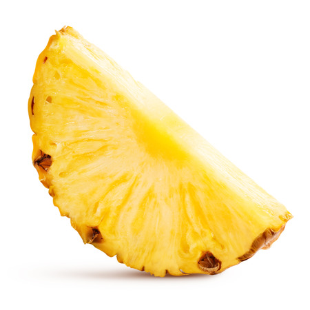 pineapple slice: pineapple with slices isolated Clipping Path Stock Photo