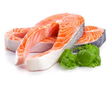 分離された鮭赤魚ステーキ