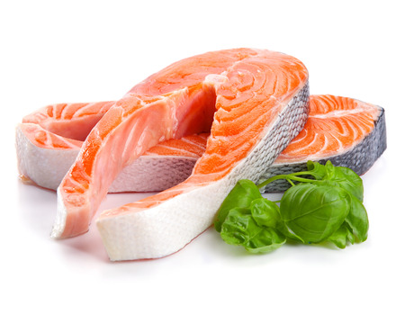 Salmon Red Fish Steak isolated