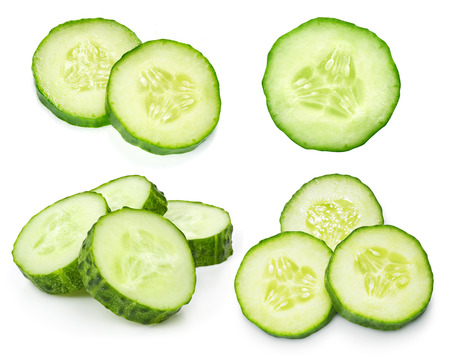 Cucumber isolated on white background 스톡 콘텐츠