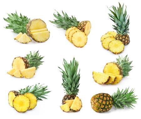 sweet segments: Pineapple set isolated
