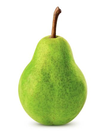 Pear isolated on white background Clipping Path photo