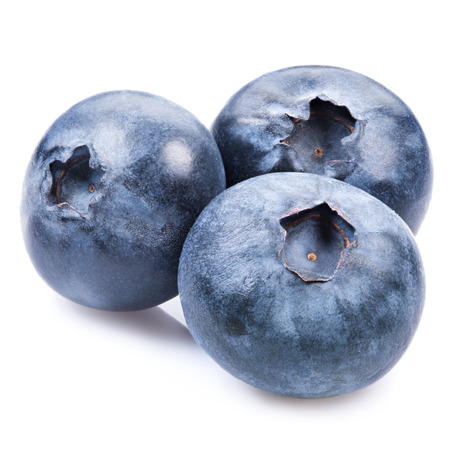 of isolated: blueberries isolated Stock Photo
