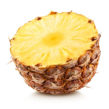pineapple with slices isolated Clipping Path Standard-Bild