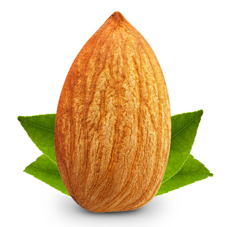 almonds nuts isolated
