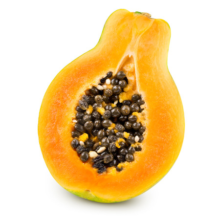 coloration: Papaya isolated on white background Clipping Path