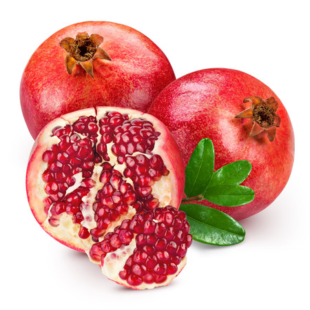 pomegranate isolated on white background Archivio Fotografico