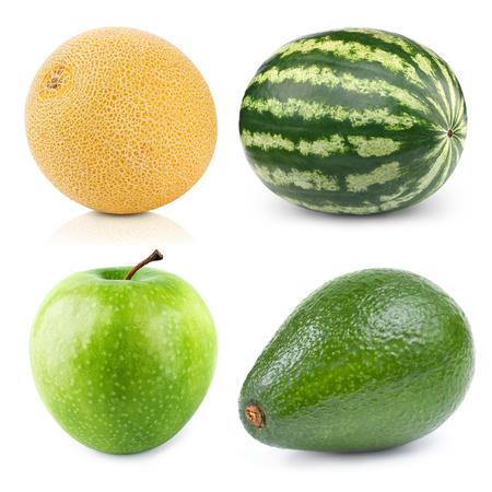 williams: melon watermelon apple avocado  isolated