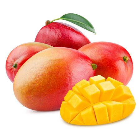 mango: świeże mango wyizolowanych na białym