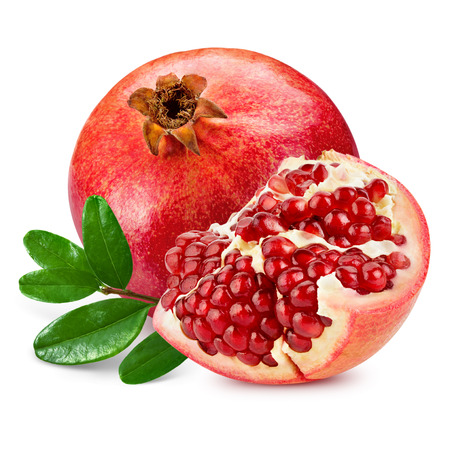 pomegranate isolated on white background 스톡 콘텐츠