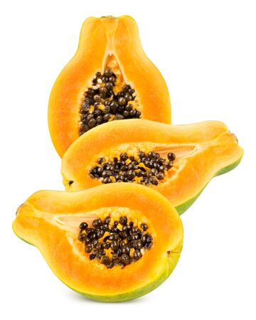 cutaneous: Papaya isolated on white background Stock Photo