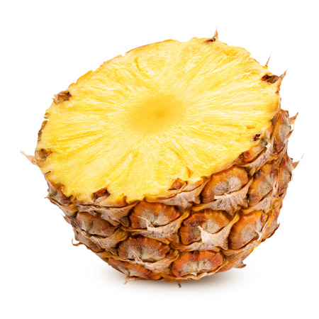 pineapple slice: pineapple half isolated Clipping Path