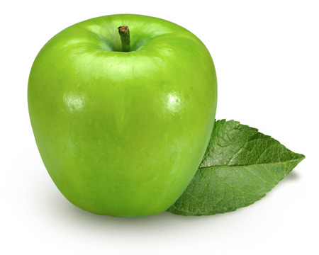 juicy: closeup isolated juicy green apple