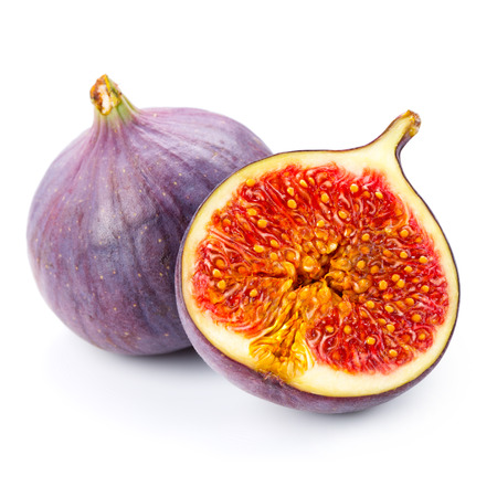 figs: Figs fruits isolated on white background Stock Photo