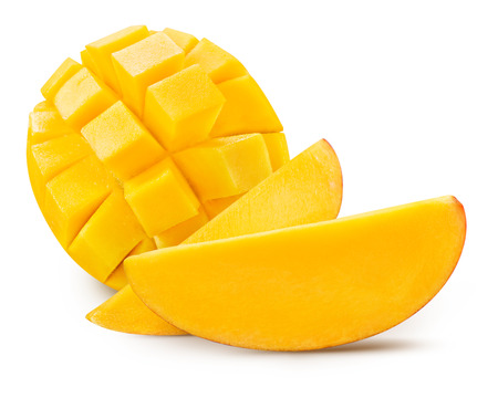 mango slice isolated on white