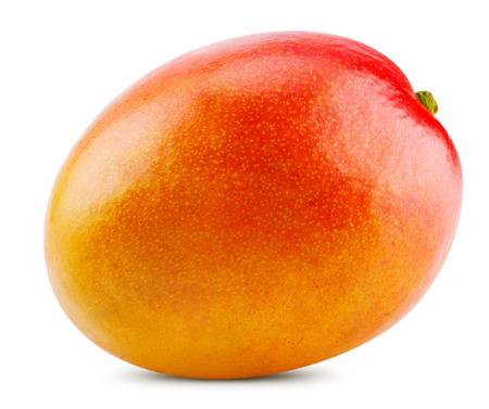 mango fruta: mango fresco aislado sobre fondo blanco