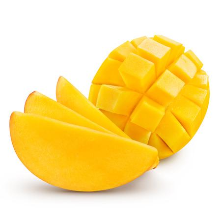 mango: mango slice isolated on white background Stock Photo