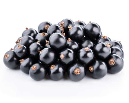 black currants: Black currants berries isolated on white background Stock Photo