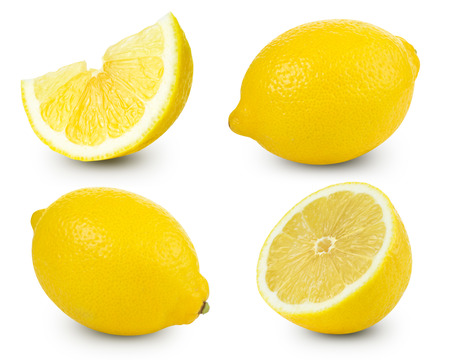 Lemon fruits collection   Stock Photo