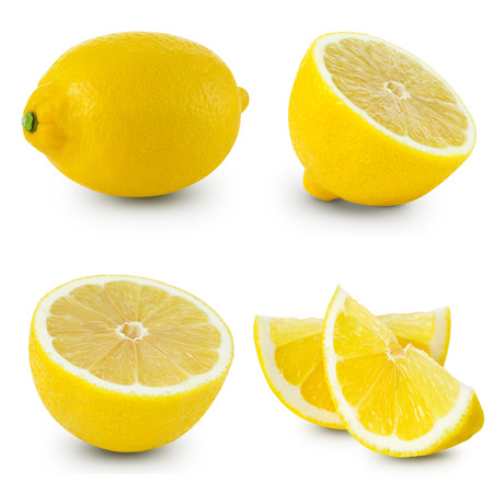 lemon slices: Lemon isolated on white background Stock Photo