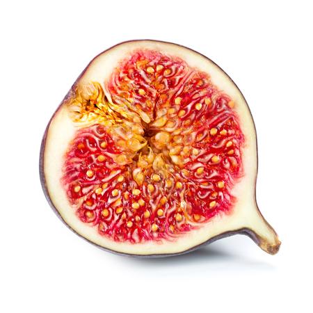 sweet segments: Figs fruits isolated on white background Stock Photo