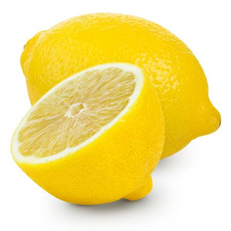 Fresh lemon isolated on white Archivio Fotografico