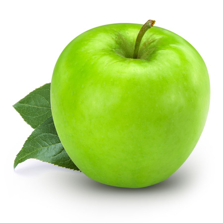 green apples: Green apple isolated Stock Photo