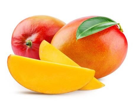 fresh mango isolated on white + Clipping Path Standard-Bild