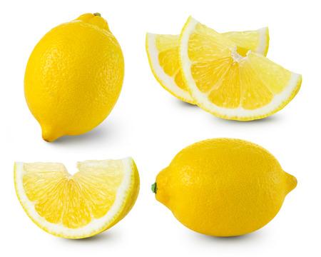 Lemon fruits collection Clipping Path Standard-Bild