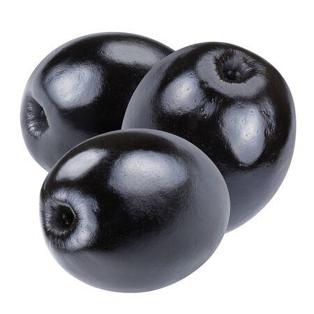 olive: black olives on white