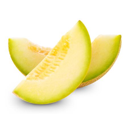 cantaloupe: cantaloupe melon isolated on white Stock Photo