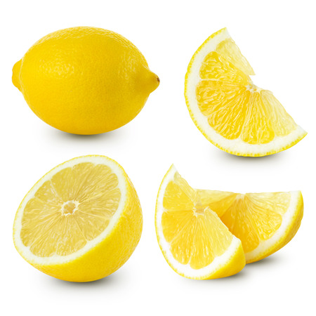 Lemon fruits collection Clipping Path Banque d'images