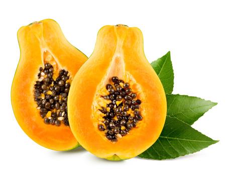 Papaya isolated on white background Standard-Bild